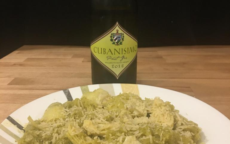 White Wine Pesto Spaghetti Squash