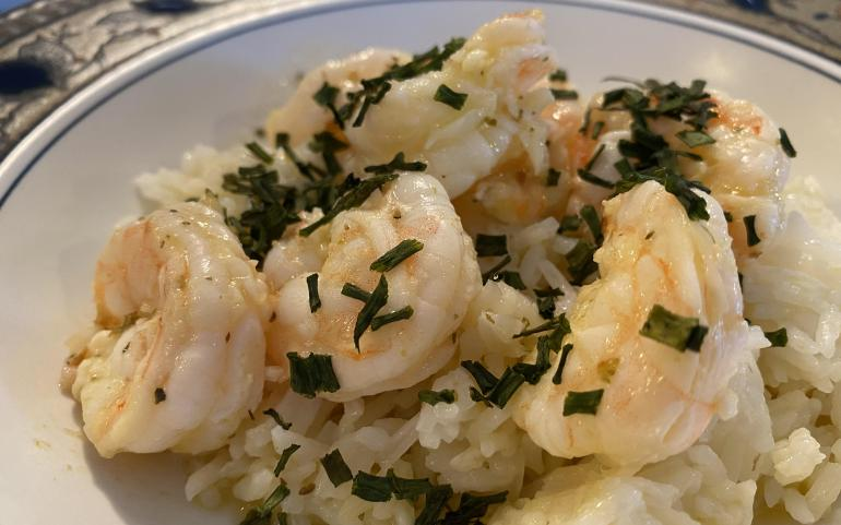 Light & Healthy Cuban Mojo Shrimp